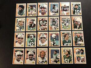 1978-Topps-NEW-YORK-JETS-Team-Set-RICHARD-TODD-Wesley-WALKER-Joe-KLECKO-Harper