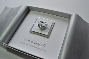 Details About Bella Design Square Wedding Invitation Heart Boxed