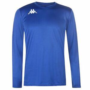 Kappa-Mens-Torino-Long-Sleeve-T-Shirt-Crew-Neck-Top-Lightweight-Mesh-Print-Block