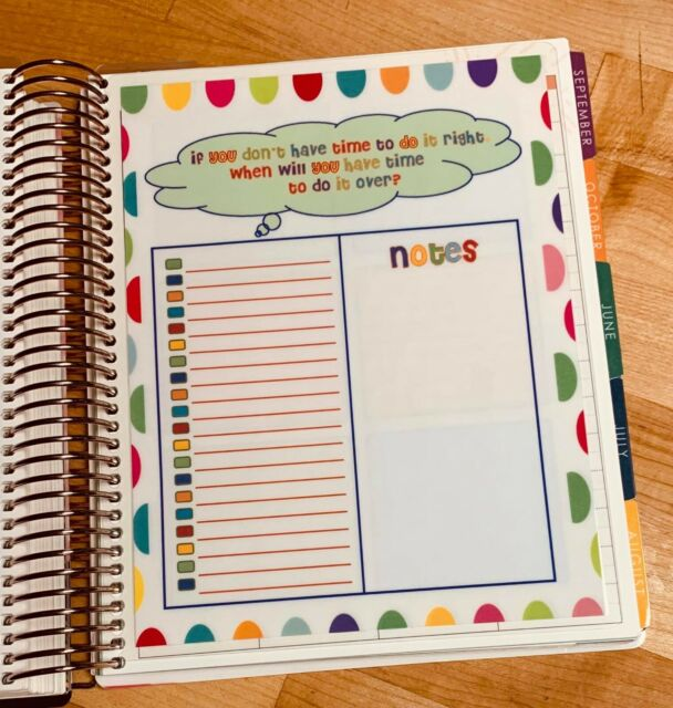 Movies to See 2 Sided Dashboard Insert for use with Erin Condren Planner