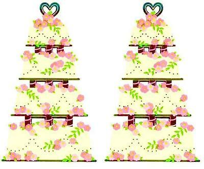 ~ Retired NLA Reflections Wedding Tier Cake Mrs Grossman Stickers ~