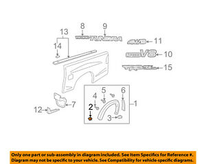 TOYOTA-OEM-Tundra-Pick-Up-Box-Bed-Wheel-Fender-Flare-Molding-Retainer-753920C030