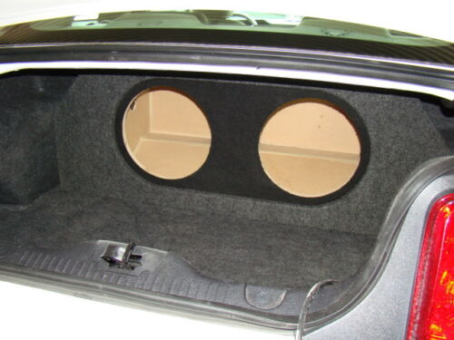 """2005-2014 Ford MUSTANG 2-12/"""" Subwoofer Sub Box Type 3 Rec Holes /& Amp Area"""