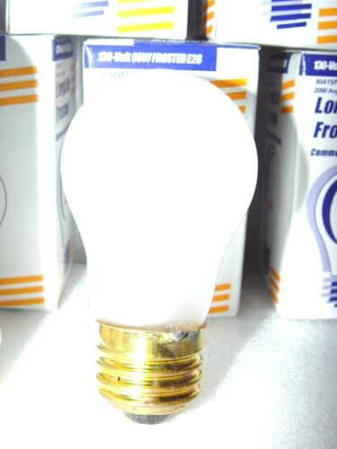 10 A15 Medium //E26 60W 130V Long Life Frost Appliance Bulbs 60A15//F Light Bulb