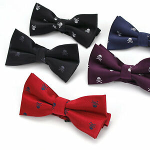 Men/'s Polyester Silk Bow Ties Adjustable Man Bowtie Animal Printing Butterflies