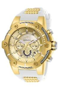 New-Mens-Invicta-26814-Bolt-Quartz-Chronograph-Gold-Dial-51-5mm-Watch