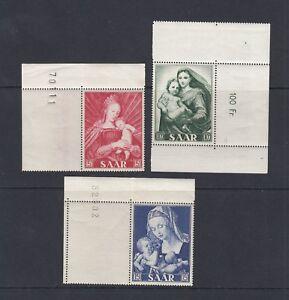 Saarland-Mi-Nr-351-353-Bogenecke-postfrisch