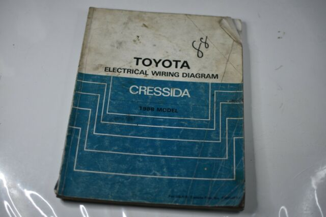 1988 Toyota Cressida Electrical Wiring Diagram Manual Oem