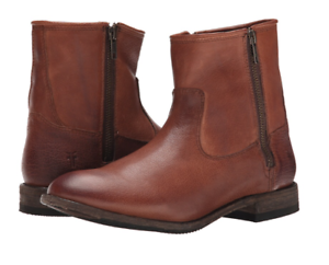 NIB Frye Ethan Double Zip Short Boots WHISKEY Womens 6 M