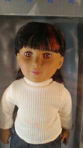 2003-Tollytots-Tolly-Girl-18-034-American-girl-friend-Paloma-black-hair-orange-NIB