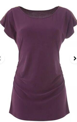 Skirt /& Necklace Set Pink//purple Print Uk Size 16 Marisota Womens 3 Piece Top