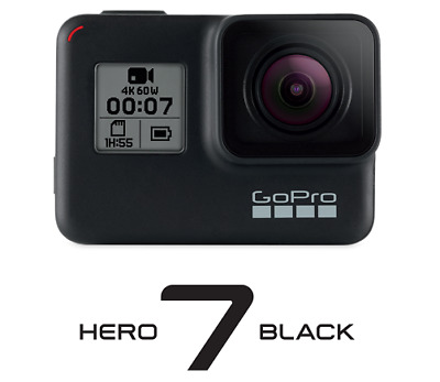 GoPro Hero 7 Black 4K60-Action Cam wasserdicht Sprachsteuerung Touchscreen