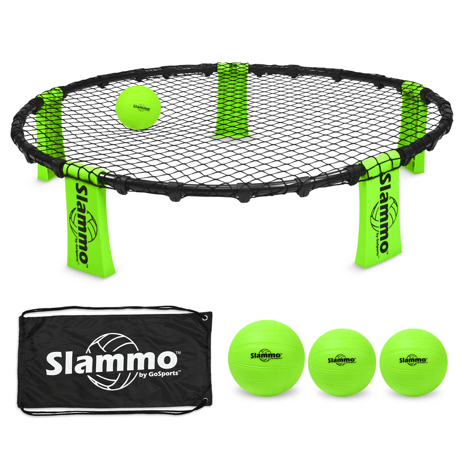 GoSports Slammo™ Game Combo Ball Set Drawstring Bag Four Square meets Volleyball