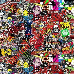 Skate Bmx Stickers Bomb Sheet Euro Vinyl Decal Vw Vauxhall