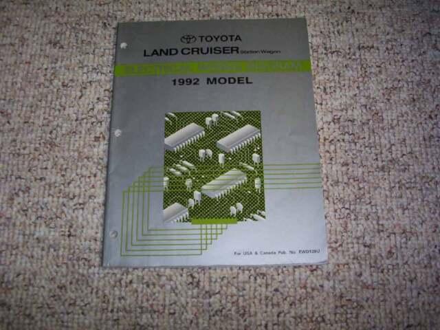 1992 Toyota Land Cruiser Electrical Wiring Diagram Manual