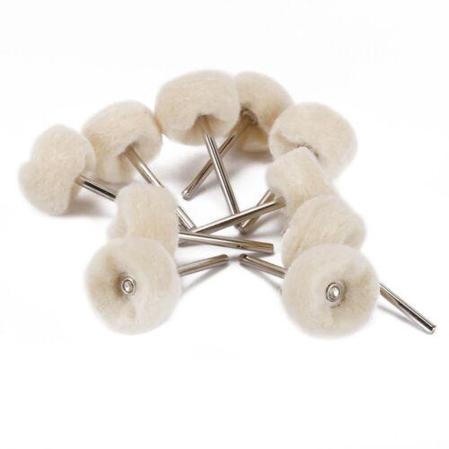 "10pcs Fine Wool Polishing Brush Buffing Wheel 1//8/"" Shank Set Rotary Tool Dremel"