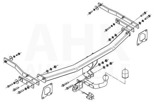AHK Kpl. Für Renault Scenic 03-09 Anhängerkupplung starr+ES 13p spez