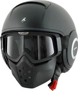 CASCO-Helmet-helm-capacete-SHARK-Raw-DRAK-NERO-OPACO-blank-Mat-TAGLIA-S