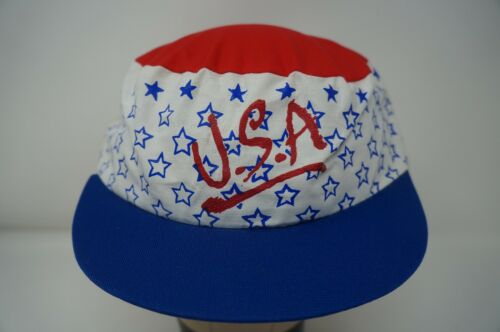 Rare VTG BEST CAPS USA Stars Spell Out Snapback Ha