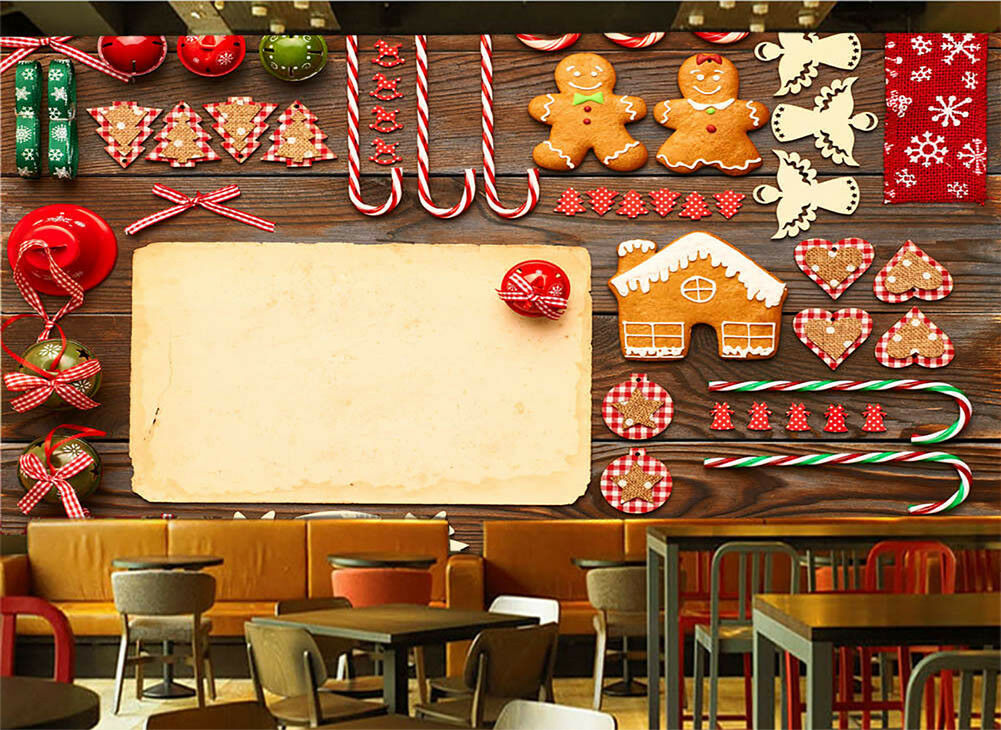 Warm Dining Atmosphere 3D Full Wall Mural Photo Wallpaper Print Home Kids Decor