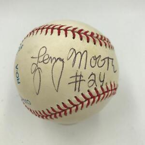 Lenny Moore #24 Signed Autographed Baseball NFL Hall Of Fame Colts JSA COA