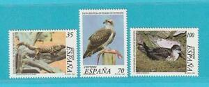 Spanien-aus-1999-postfrisch-MiNr-3449-3451-Tiere-Echse-Voegel