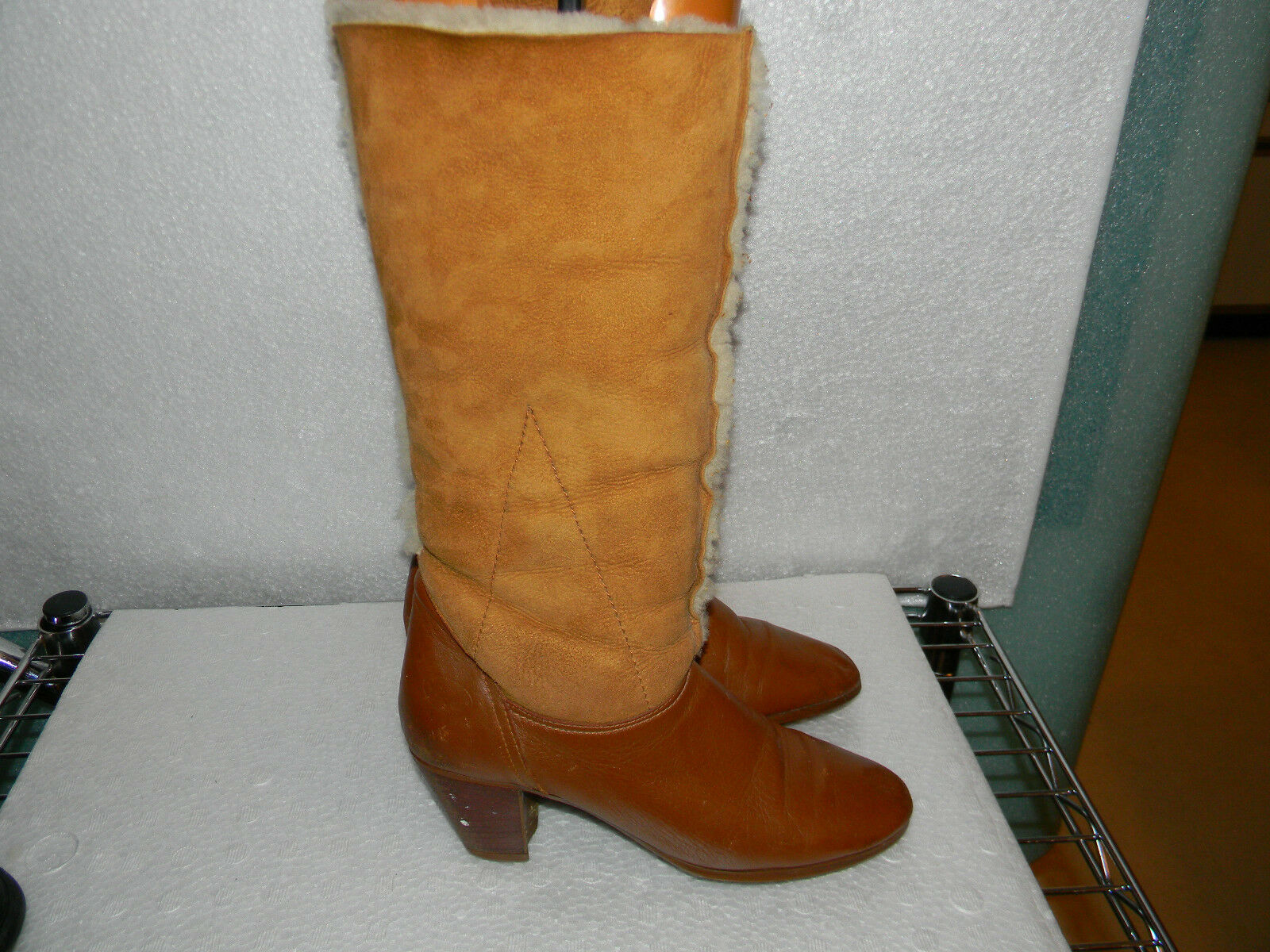 Bass botas 8.5 occidental de piel de oveja botas 8.5 Cowboy Shearling botas 8.5 Bass 8.5