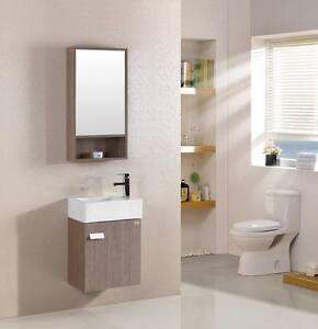 Mobile Bagno Arredo Bagno Completo Acero Pensile Lavabo Specchio