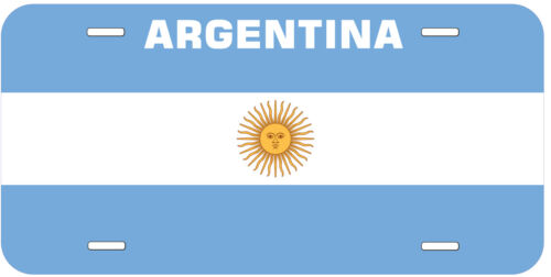 Argentina Flag Any Name Personalized Novelty Car License Plate