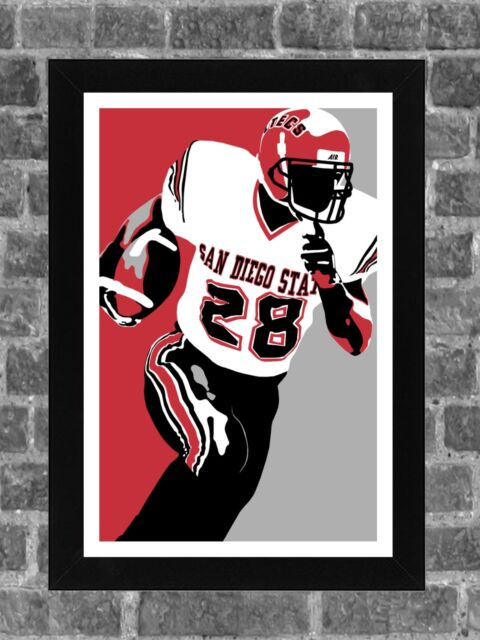 brand new 9e569 b08f4 San Diego State Aztecs Marshall Faulk Portrait Sports Print Art 11x17