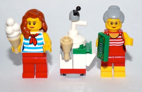 60135 NEW! Fun at the Beach City LEGO 1 x  Ice cream seller & customer Cart