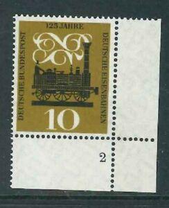 BRD-Mi-Nr-345-Paar-Ecke-4-Eckrand-mit-FN-Formnummer-2-postfrisch
