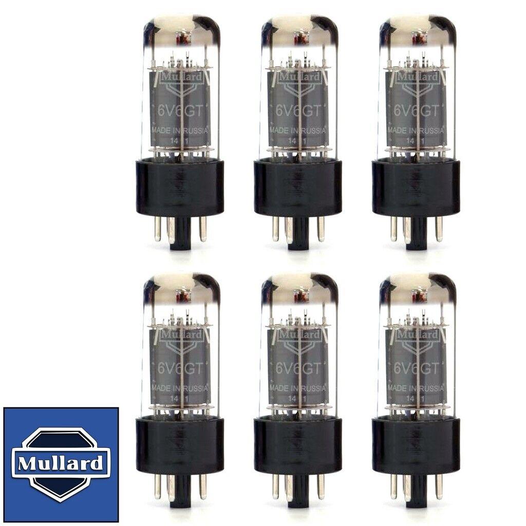 Brand New Current Matched Sextet (6) Mullard Reissue 6V6 6V6GT Vacuum Tubes