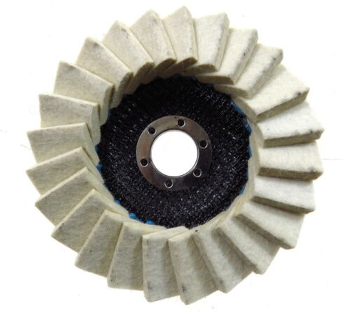 Filz Polierfächerscheibe dick Polierscheibe Winkelschleifer Fächerscheibe 125mm
