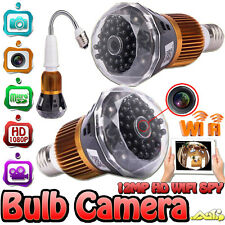 WIFI 1080P HD Camera LED Light Lamp Bulb Cam With Motion Detection E