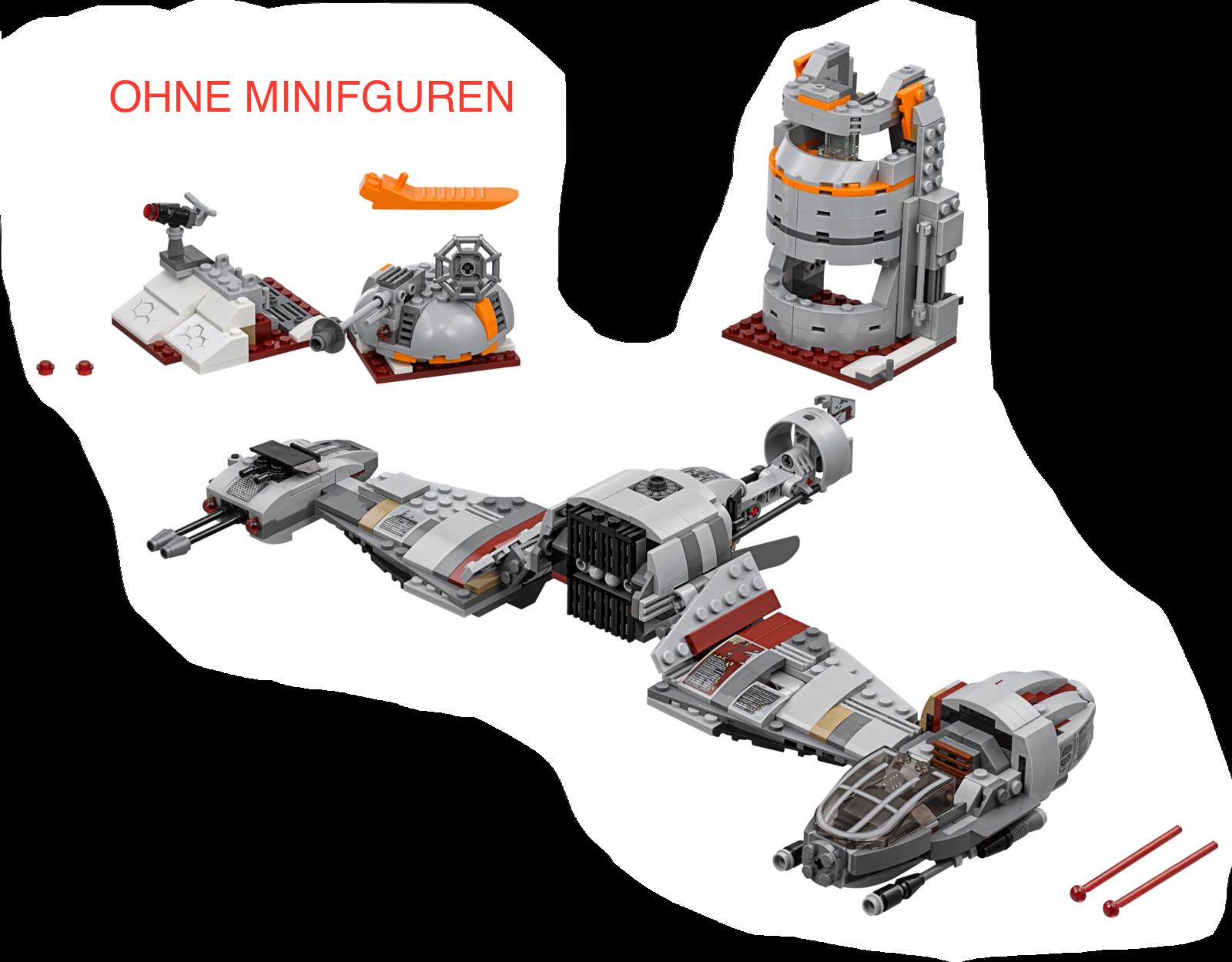 LEGO Star Wars - Defense of Crait 75202 NEU OHNE MINIFIGUREN + OHNE BOX
