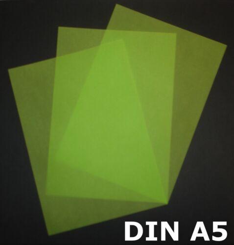 50 Blatt DIN A5 Transparentpapier Zanders Spectral 100g Farbe grün transparent