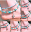 Ankle Bracelet starfish Conch Turquoise Beaded Beach Foot Jewellery Bohemian HOT