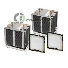 2x Coolers Heatsinks w/ 2x E5450 3.00GHz CPU's for Dell Precision T5400 Computer
