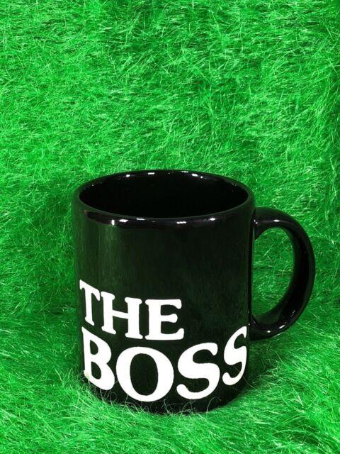 """Waechtersbach Henkel-Becher Motiv """"The Boss"""", Keramik, schwarz, 330 ml, NEU"""