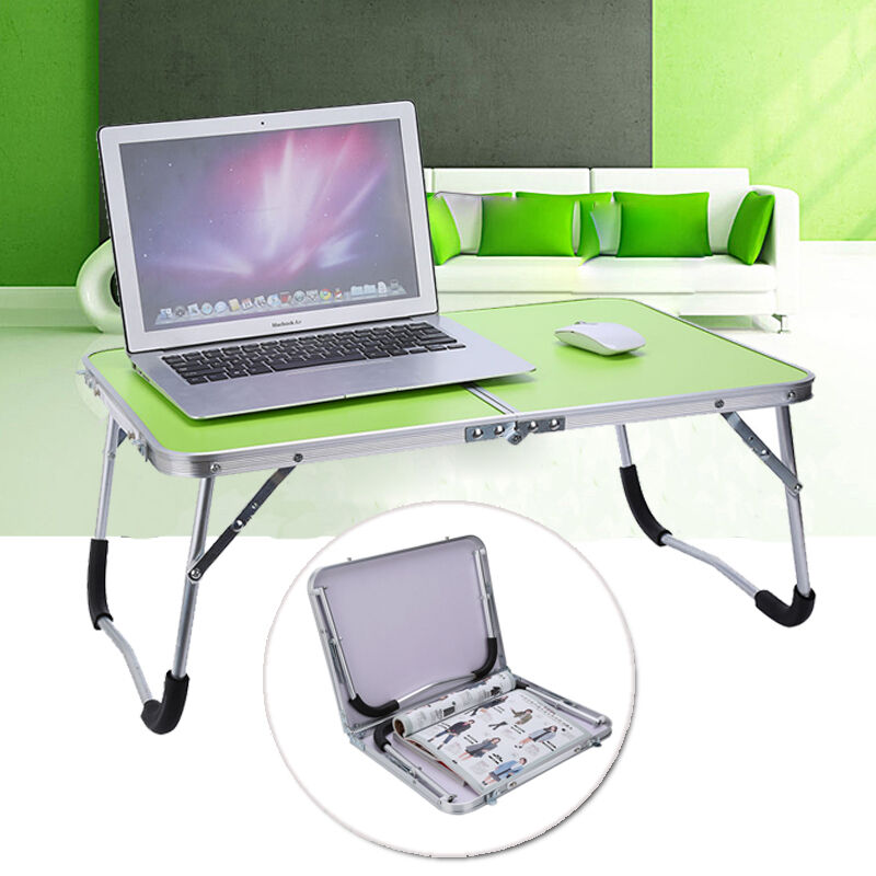 laptop tray for couch new aluminium folding portable laptop stand desk camping 6781