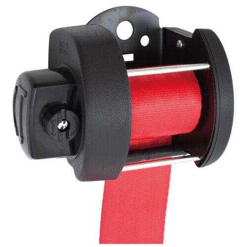 Securon Seatbelt Rear Automatic RED Lap /& diagonal RH LH 32cm NEW Moss Europe