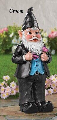 """"""" Giorno Matrimonio """" Gnomo Sposo Dressed In Smoking Giardino Statua Avere Sia La Qualità Della Tenacia Che La Durezza"""