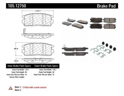 Rr Super Premium Ceramic Brake Pads  Centric Parts  105.12750