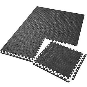 6er-Set-Schutzmatten-Bodenmatte-Unterlegmatte-Fitness-Gymnastik-Puzzle-schwarz