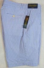 Polo Golf Ralph Lauren Links Fit Striped Seersucker Shorts Size 42 NWT