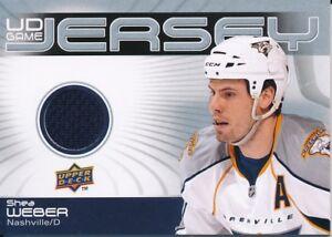 2010-11-Upper-Deck-Series-One-GJ-SW-Shea-Weber-UD-Game-Jersey-Insert
