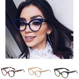d830936638 Image is loading Fashion-Reading-Eyeglasses-Women-Optical-Plain-Glasses -Ultra-