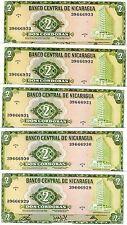 Nicaragua 2 cordobas Pick 121 C-Serie UNC 1972