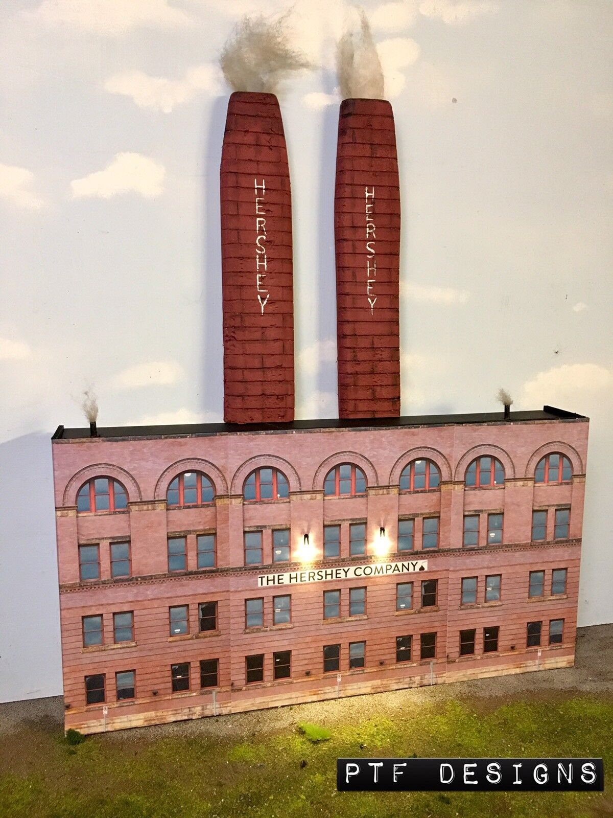 O Scale Scratch Built  Hershey Chocolate Co Factory Factory Factory  costruzione davanti MTH Lionel 5c67b8